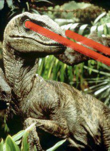 velociraptor with laser