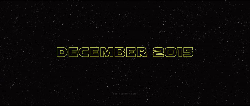 Star Wars Trailer - December 2015