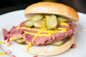 Home Made Bagels with Hot Salt Beef, Pickles and Ball Park Mustard on the New Brunch Menu at Solita, Northern Quarter, Manchester