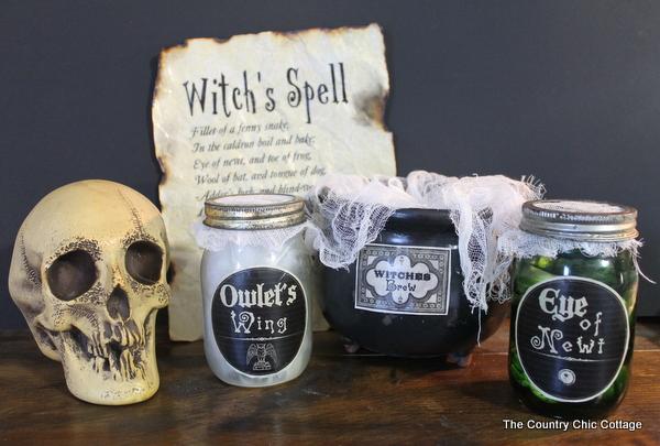 Macbeth Witch Halloween Craft