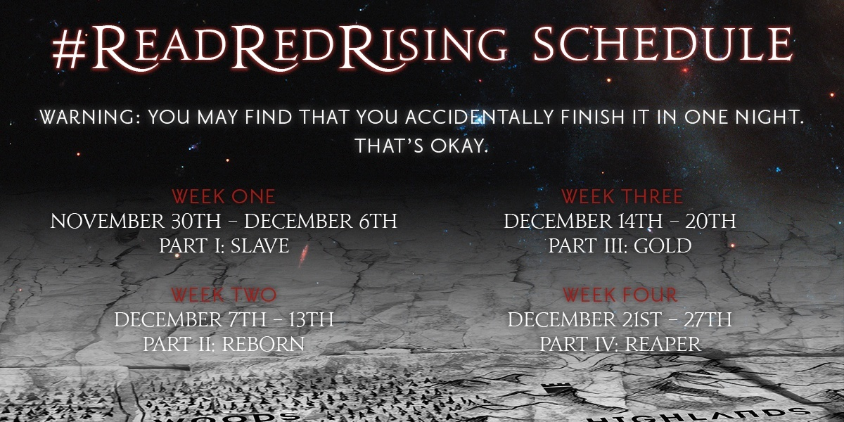 Red Rising Read Along Schedule